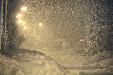 Snø: Det kommer til å snø tett den kommende tiden.