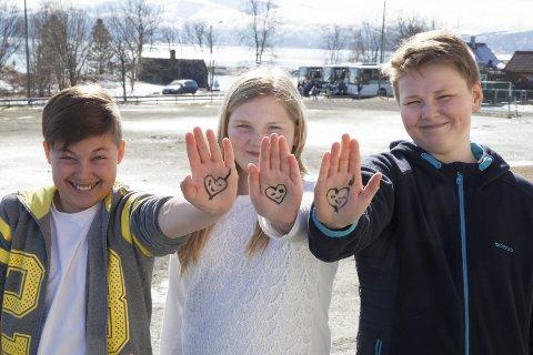 Adrian Fedreheim Markussen (til venstre), Amalie Storelv og Jonas Myrvang er enige om å bruke både hjertet og hodet. Både på nett og ellers.