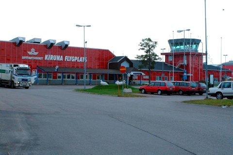 Arkivfoto av flyplassen i Kiruna.