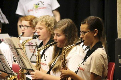 Størst: Saksofonistene utgjorde den største gruppa.