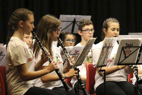 Avansert: Avslutningskonserten bød på avansert korpsmusikk.