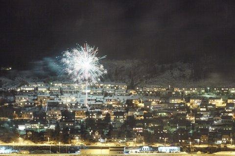 Illustrasjonsbilde nyttårsaften i Narvik 2017.