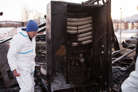 Sikringsskapet ble tidlig utpekt som hovedmistenkt. Nå har politiet konkludert med at det var her brannen startet.
