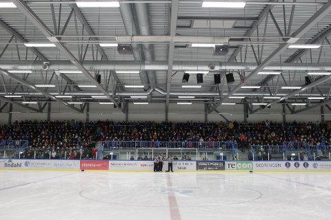 Klart for bamser: Ishallen i Nordkraft Arena er klar til å motta både publikummere og bamser når Narvik tar imot Comet lørdag. Arkivfoto: Kristoffer Klem Bergersen