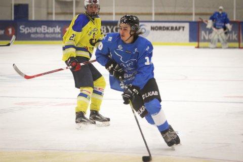 Martin Henriksen og resten av U20-laget til Arctic Eagles måtte se seg slått av Ski Ishockey i første av tre kamper denne helgen.