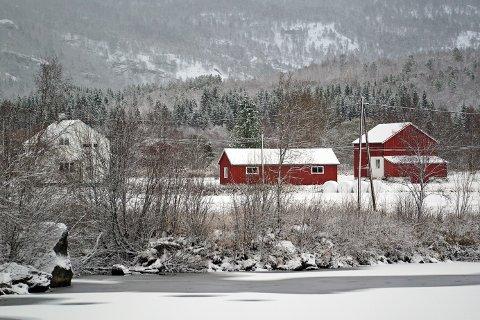 KONG VINTER: Vinter i Skjomdalen søndag 29.10.2017.