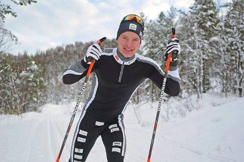 Vegard Johnsen trener i Kobberstadløypa før avreise til Finland.Foto: Odd-Georg H. Benjaminsen.
