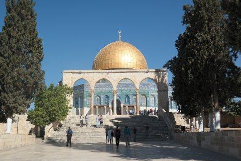 Klippemoskeen- Bygd på stedet hvorfra Muhammed i følge Islam reiste til himmelen
