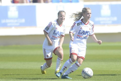 Tapte: Både Ida (til venstre) og Lotte Fikseth Fossem spilte 90 minutter da Medkila ble knust med sifrene 0–5 på hjemmebane mot Klepp søndag.Arkivfoto