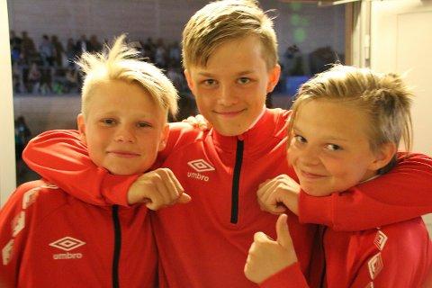 Flotte representanter for Ballangen: Per Anders, Sondre og Selmer