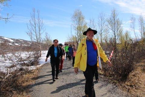 Fjorårets marsj var preget av mye snø, men deltakerne tok det med godt humør. I år er løypa helt snøfri, ifølge arrangør AK Schille.