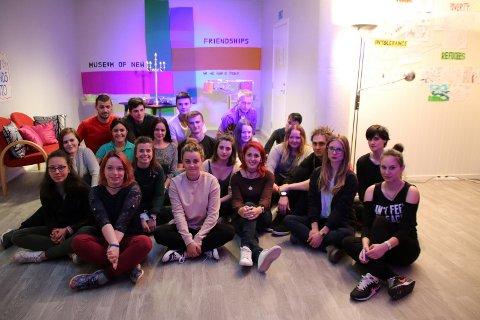 Kunstnerne fra Serbia, Polen, Frankrike og Norge