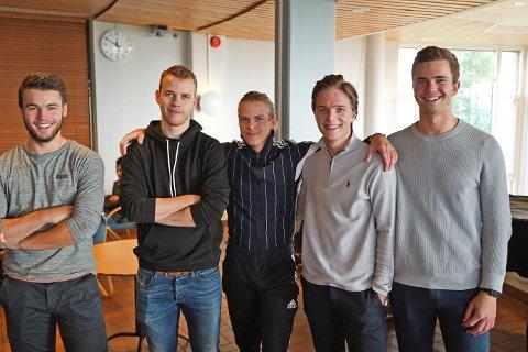 I GANG: Nicolai Aasberg, Georg Hansen, Viktor Framnes, Vegard Stene og Rasmus Bolkan har alle valgt å studere til byggingeniør i Narvik.