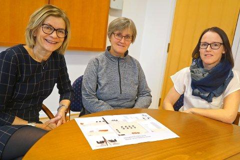 FORNØYDE: Studierektor Liv Bjørklund, rektor Anita Sletbakk og lektor Marita Ivarsson Elverum.