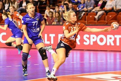 Marit Røsberg Jacobsen og Byåsen med storseier.