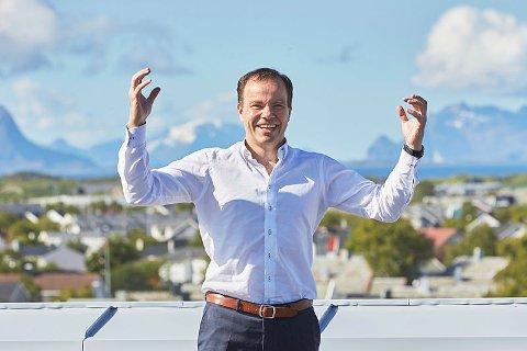 JUBLER: Fylkesrådsleder i Nordland, Tomas Norvoll, fryder seg over at Stortingets næringskomité ønsker å bygge Andøya Spaceport. Arkivfoto