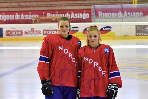 Både Kamilla Skogvold Olsen (t v) og Thea Kuraas skal ut i landskamper i desember på henholdsvis damelandslaget og U18-landslaget.