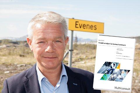 Rådmann Rolf M. Lossius fikk nei da han ville ha Multiconsult til å gjøre flere utredninger for Evenes kommune.