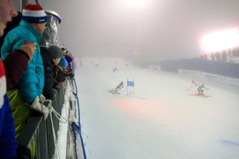 Parallellslalåm i verdenscupen i alpint i Holmenkollen første nyttårsdag.
