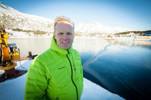 GÅR FRAMOVER: Morten Berg planlegger å bygge for 200 til 250 millioner kroner på tomta til det gamle støperiet i Bogen. Nå har Fylkesmannen gitt utslippstillatelse.