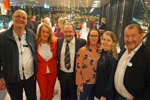 DET GAMLE A-LAGET: Fra venstre: Tor-Kristian «Småen» Nilsen, Linda Nilsen, Rudolf Kristiansen, Karina Akselsen, Therese Augustinussen og Ragnar Sundby dro alle i gang 80-tallsfesten på Linken.