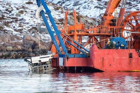 Her senkes ROV-en i havet Foto: Eric Fokke/NTB Scanpix