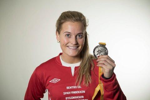 Marit Røsberg Jacobsen, arkivfoto etter sølv i VM i 2017.