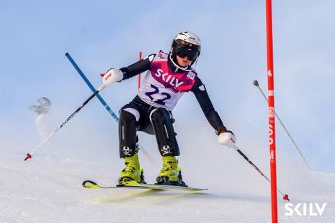 Fin plassering: Sofie Aam Olsen fra Narvik Slalåmklubb tok en sterk 17. plass i NM denne helgen.