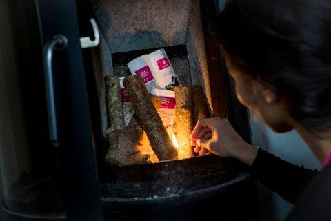 KJENNER DU DEG IGJEN?: I undersøkelsen viser det seg også at 12 prosent brenner avfallet sitt, noe som øker risikoen for pipebrann.