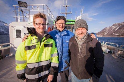 RÅD: Professor Bjarte Hoff (til venstre) ved UiT Narvik er en av flere som skal gi råd regjeringen. Her sammen med Arnold Hansen (bak) og Trond Østrem fra UIT. Bildet tatt i en annen sammenheng.