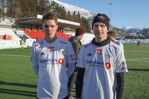 Artur Juchno (til venstre) og Daniel Gunevic møter gammelklubben Mjølner onsdag i NM.