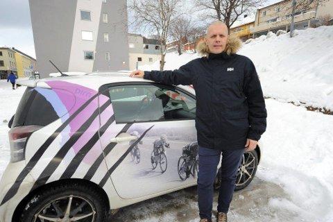 Christen Eide-Hermansen forbereder årets Border Crossing Challenge på ski, som går neste lørdag på Herjangsfjellet.