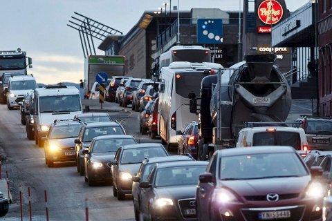 Narvik sentrum i Narvik er sterkt trafikkbelastet.
