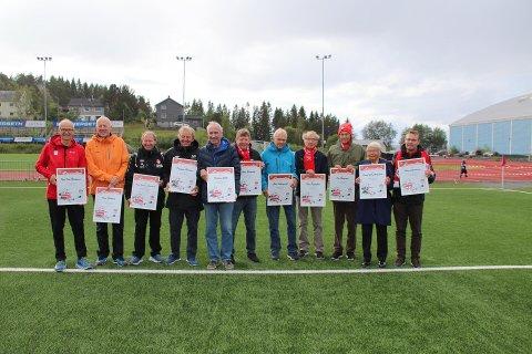 I pausen mellom Fredrikstad og Mjølner ble de 11 Mjølner-profilene hedret.