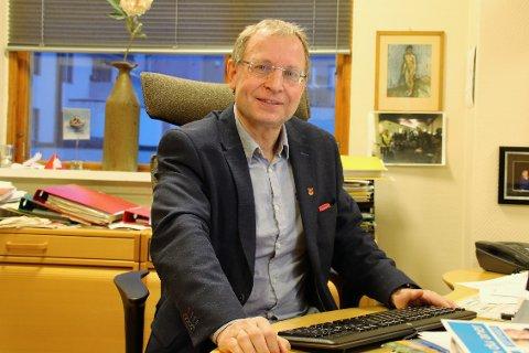 OPP TIL MYNDIGHETENE: Bjørnar Mikkelborg oppfordrer til håp på fremtiden, men kulturbransjen har naturlig nok sine utfordringer. Også Narvik kulturhus.