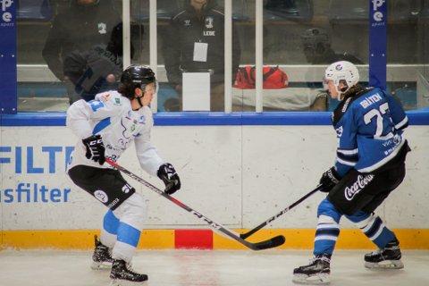 MED: Sigve Bråten (t h) møter sin tidligere klubb Narvik hockey i helgen