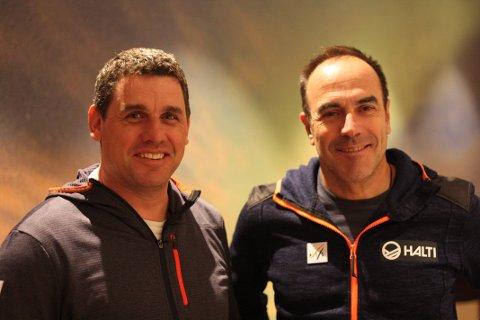Unikt: Jordi Pujol og Wim Rossel fra FIS er svært tilfreds med det de fikk se på befaringen i Fagernesfjellet. De kaller alpinanlegget i Narvik for unikt.