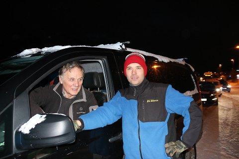 KOMMER SEG IKKE HJEM: Lars Erik Niia (t.h.) kommer seg ikke hjem til Beisfjord med det første. Her sammen med Roald Jørgensen.