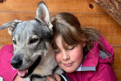 SAVNER HUNDEN: Det er June Markussens datter, Tuva Othelie Markussen (12), som eier den savnede hunden Tika.