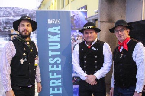 SØKER KRISEPENGER: Vinterfestuka er i gang med søknadsarbeidet. Nå håper de at regjeringens krisepakke vil dekke noe av tapet etter at koronakrisa gjorde at festivalen måtte avlyse for første gang i historien. Her er Vinterfestuka representert ved Arne-Kristian Schille-Rognmo, Frode Sollie og Steingrim Sneve.