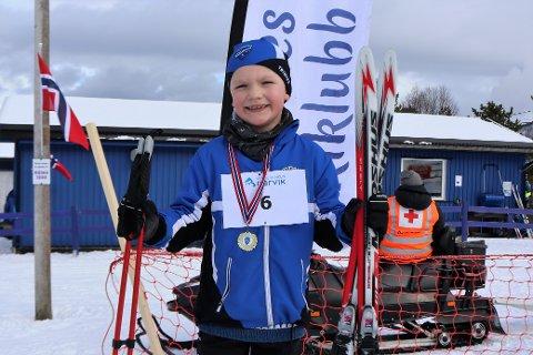 Debutant: Gabriel Rikard Swiat (7) var godt fornøyd med egen innsats etter debuten i Ankenesrennet lørdag.