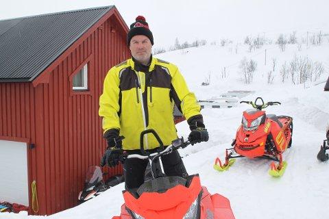 Stor pågang: Geir Isaksen melder om stor økining i antall utleiedøgn på utleide scootere. For første gang har de bikket 1.000 utleiedøgn.