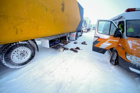 VINTERDEKK: Første november ble det innført nye regler for vinterdekk til tungbiler.