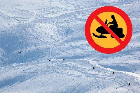 NEI?: Den svenske regjeringen skal utrede om det trengs endringer i dagens regelverk knyttet til snøscooterkjøring. Det kan ende opp med at det ikke tillates med friområder. Illustrasjonsfoto