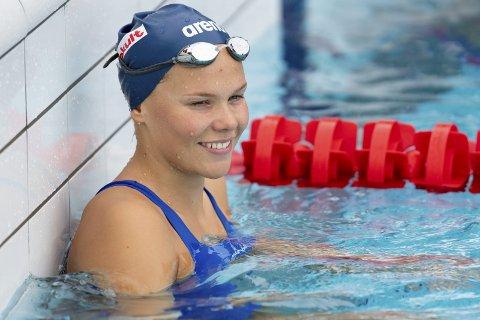 I VM: Ingeborg Vassbakk Løyning kom til semifinale i sin første øvelse under VM i svømming i Sør-Korea. Foto: Fredrik Hagen / NTB scanpix
