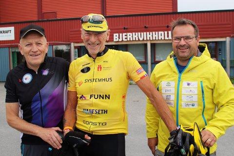 Alle skal med: Finn-Magne Simonsen, Team Rynkebys Sverre Dalhaug og rittleder Jan Inge Hansen lover sykkelfest med flotte traseer, after-bike begge dager og den perfekte innfallsporten til langvarig folkehelse på to hjul.