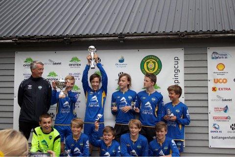 Vant: Håkvik IL kom på førsteplass i turneringa i smågutter 13/14 år.