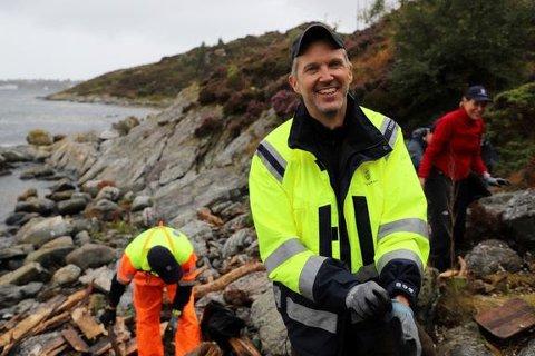 Kystdirektør Einar Vik Arset i aksjon utenfor Ålesund.