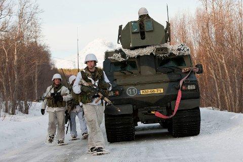 Hollandske  Marines fra 2.bataljon under Cold Response 2012