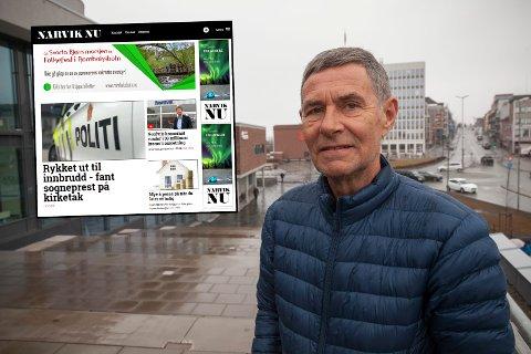 OPPGITT: Steinar Sørensen reagerer på manglende innhold på nettstedet Narvik Nu (innfelt)